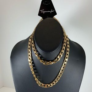 Jewelry - 5/$25 Double Gold Chunky Chain Necklace